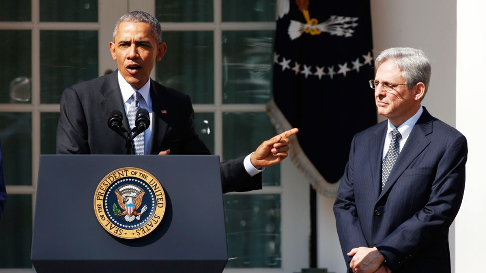 President Barack Obama and Merrick Garland