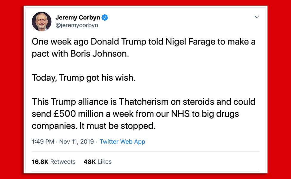 Jeremy Corbyn tweet