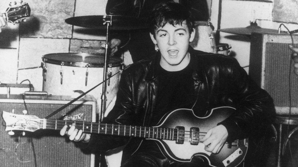 Paul McCartney at The Cavern circa 1960