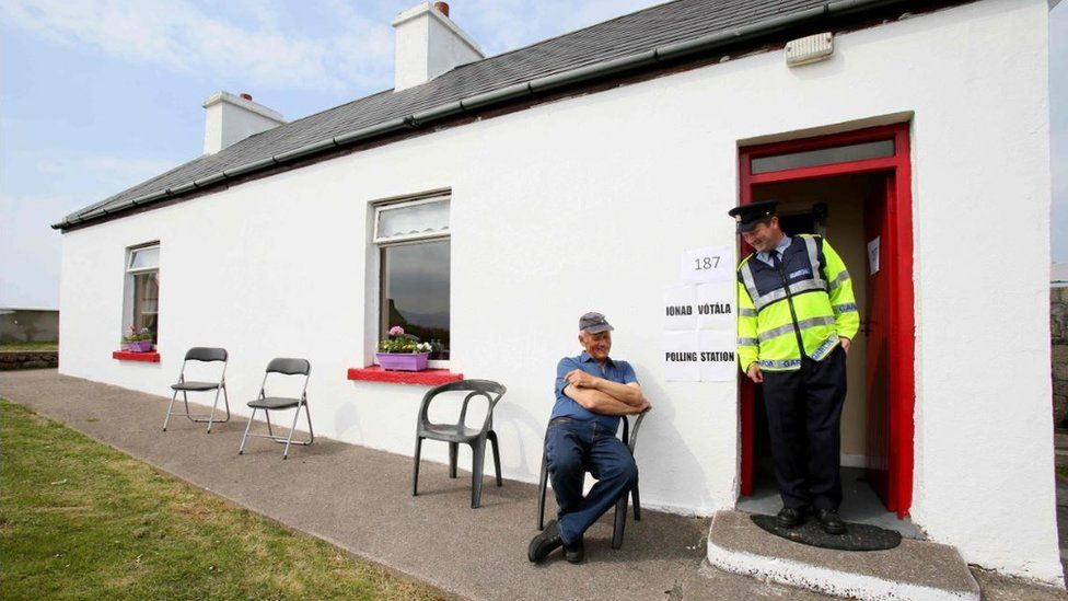 Polling station in Donegal