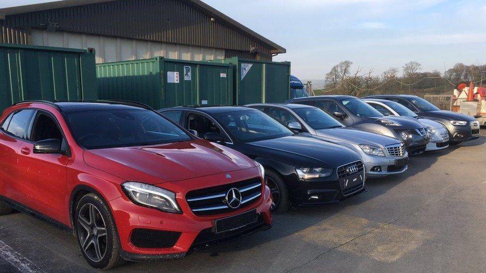The stolen cars