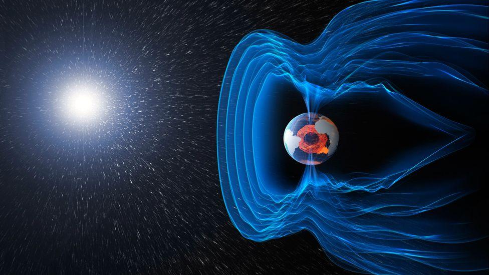 Artist's impression of magnetosphere