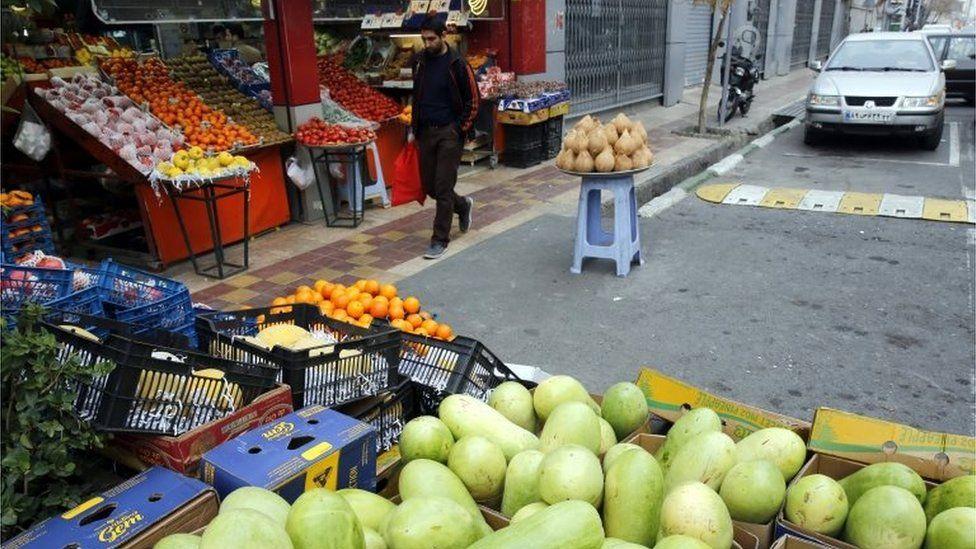 Fruit shop in Tehran (file photo)