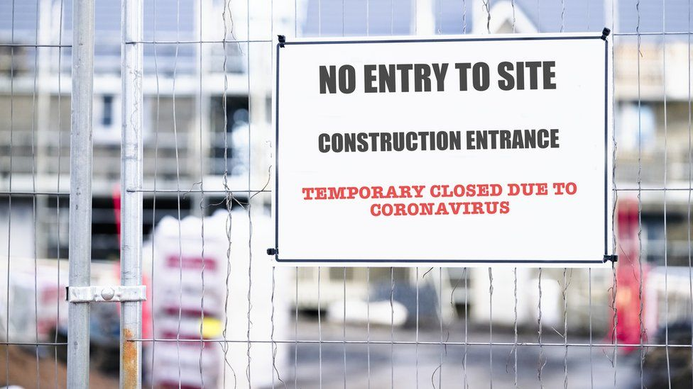 A picture of a closed construction site
