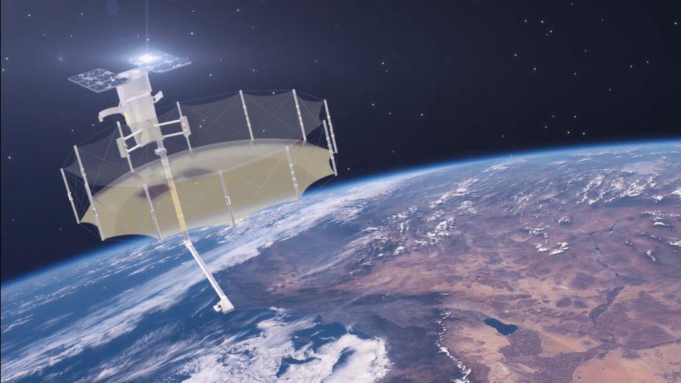 Artwork: Capella Space satellite