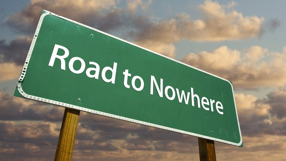 Road to Nowhere sign