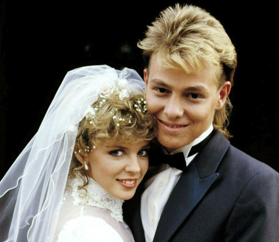 Charlene and Scott, played by Kylie Minogue and Jason Donovan