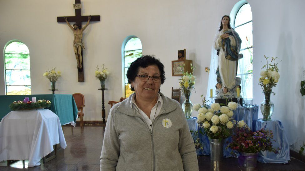 Sister Nelly inside the chapel at the jail