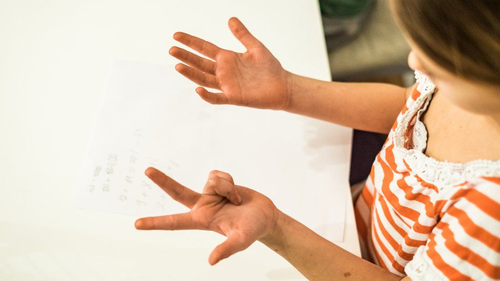 cOUNTING WITH FINGERS