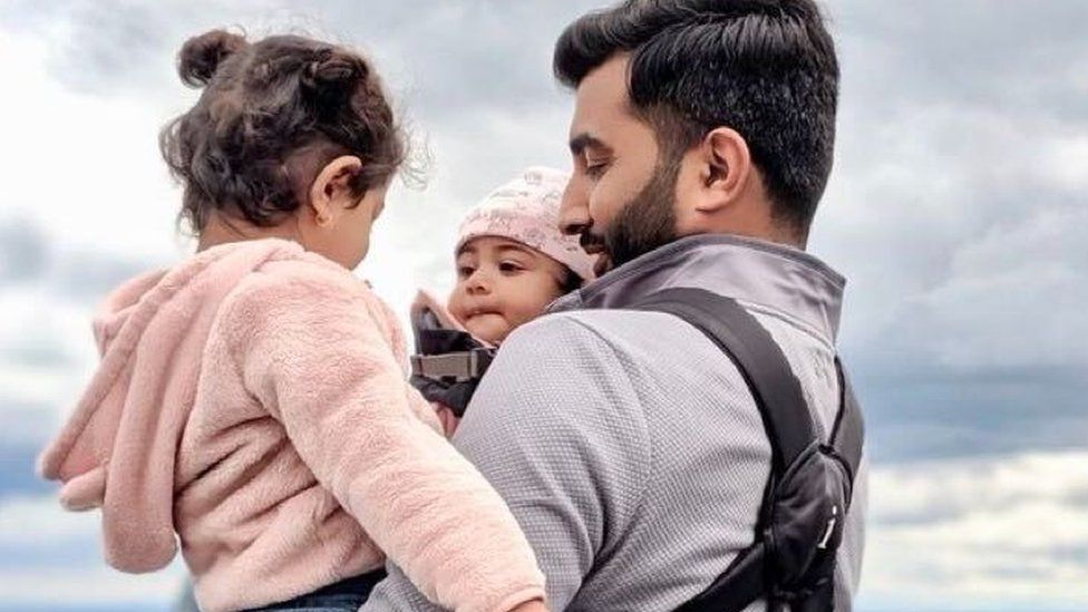 Safwan Choudhry and his two children