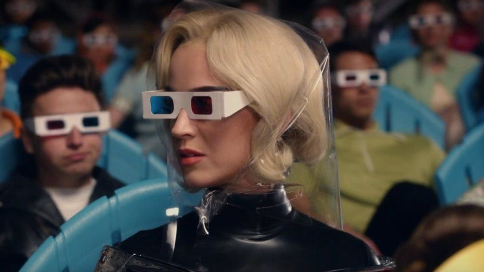 Still image from Katy Perry's Chained to the Rhythm video