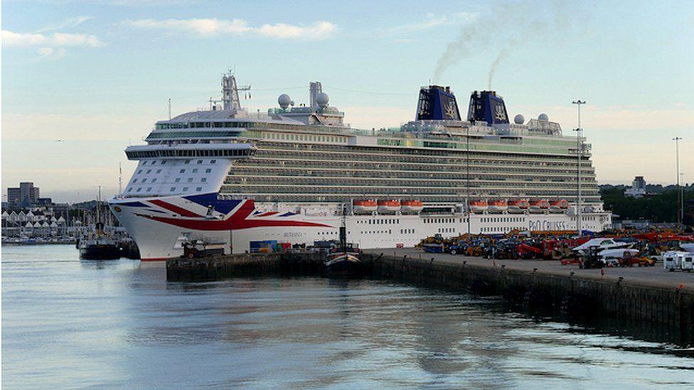 MV Britannia in Southampton