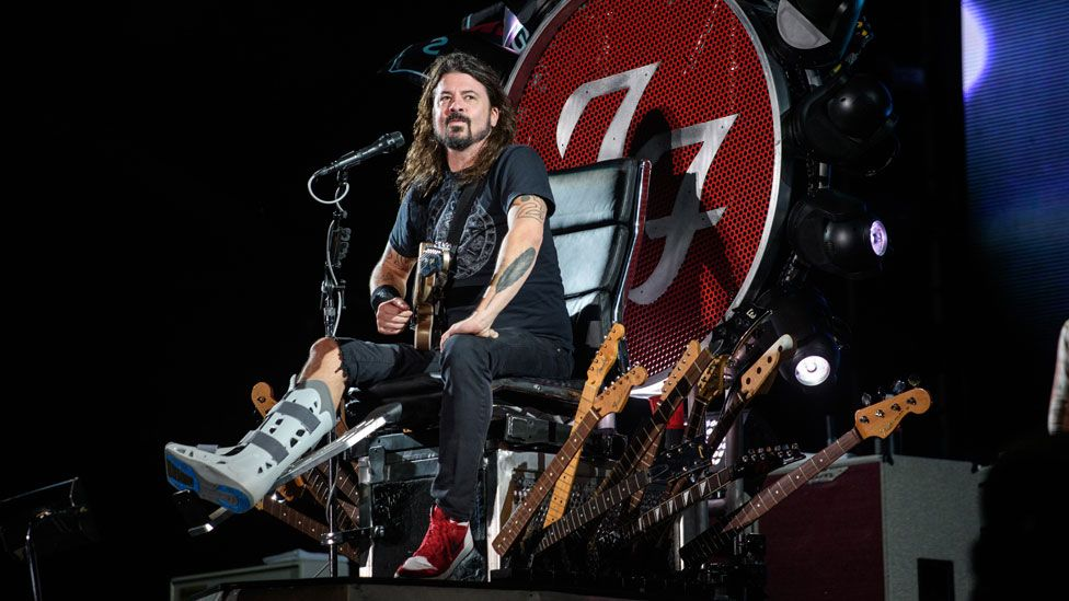 Dave Grohl performing at the Ansan Valley Rock Festival south of Seoul in July 2015