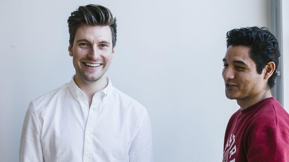 Erik Gatenholm (left) and co-founder Hector Martínez