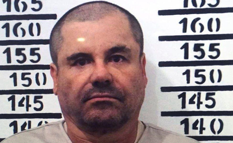 "Handout police photograph of Joaquin Guzman Loera aka ""El Chapo"" taken on January 8, 2016"