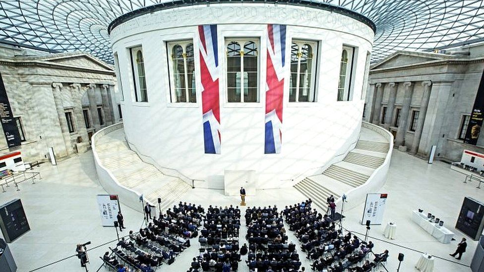 David Cameron at the British Museum