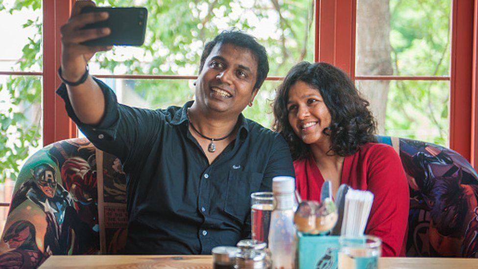 Actor Sunder Ramu on a date