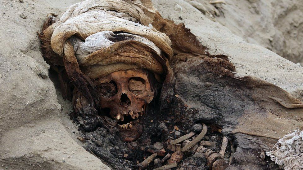 Remains of one of 227 children allegedly offered in a sacrifice