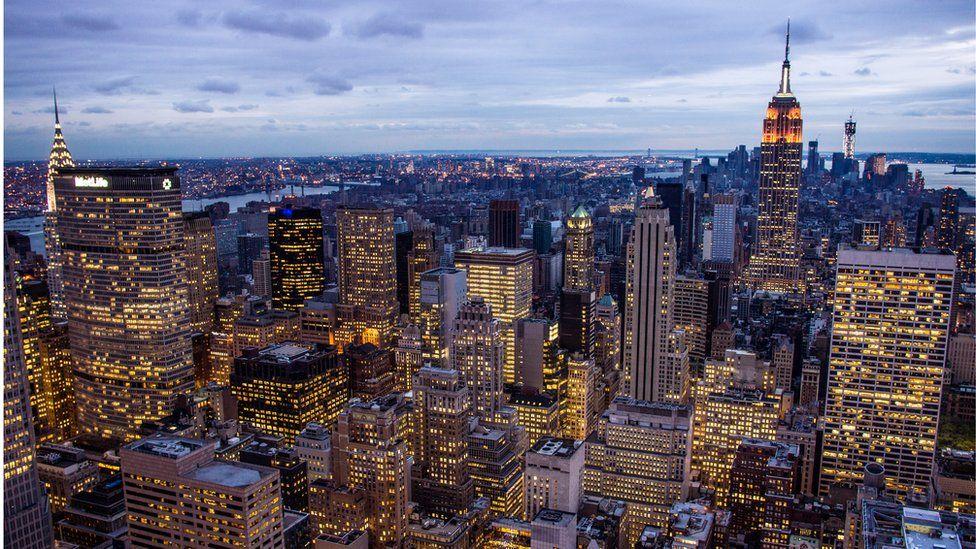 Skyline of midtown New York City