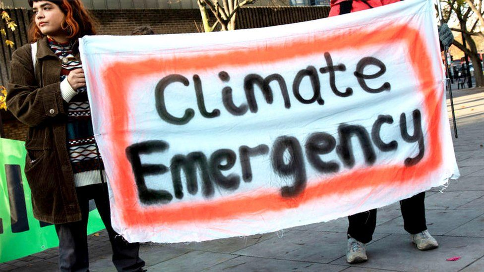 Climate strike banner