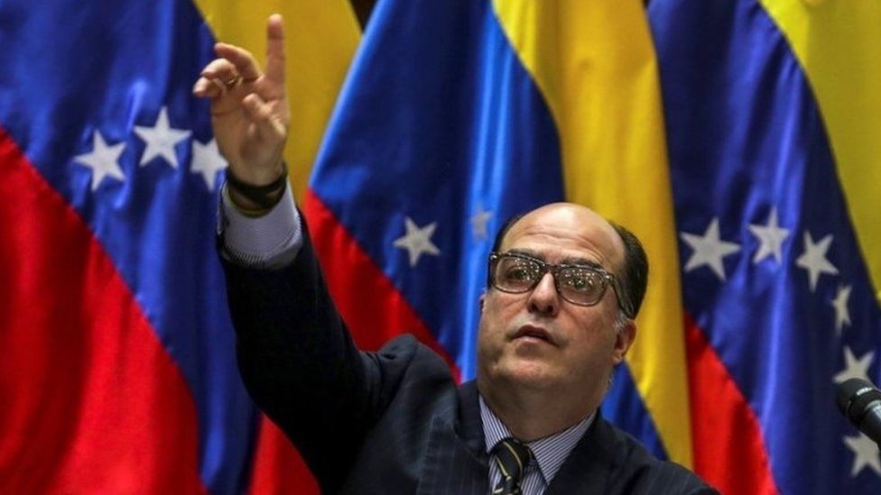 A file photograph shows the Speaker of the Venezuelan National Assembly, Julio Borges, in Caracas, Venezuela, on 07 August 2017 (re-issued on 26 October 2017).
