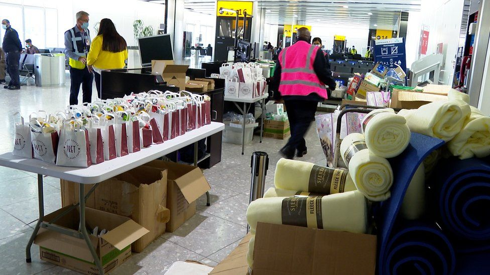 Care packages at Heathrow