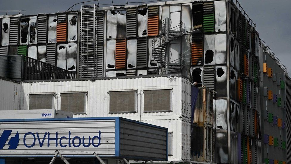 OVH data centre in Strasbourg after fire