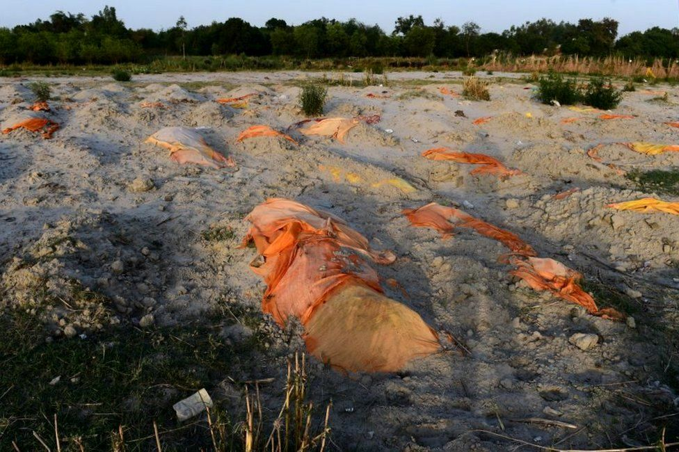 Hundreds of shallow graves were discovered in Unnao recently