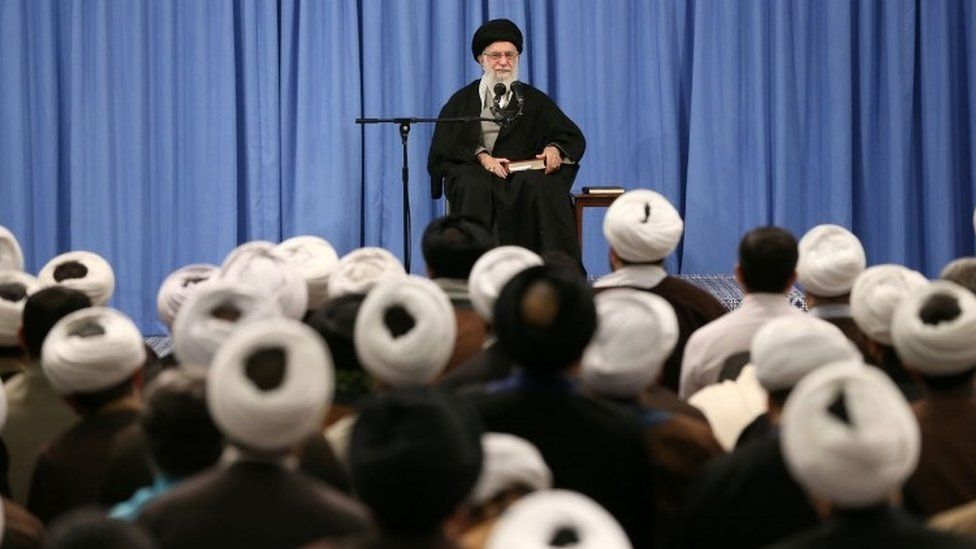 Ayatollah Khamenei at a meeting in Tehran - 23 February