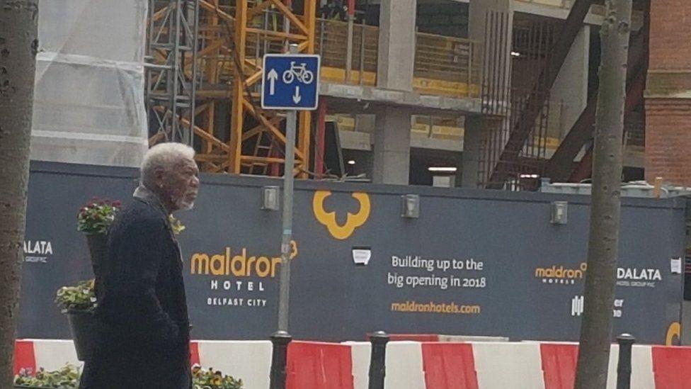 Morgan Freeman was also spotted on Brunswick Street