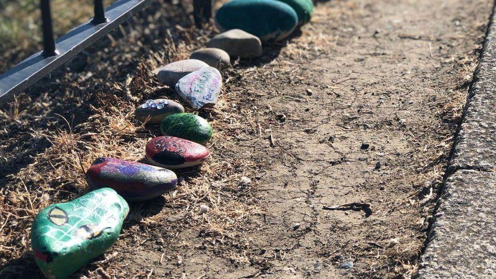 Snake made of rocks