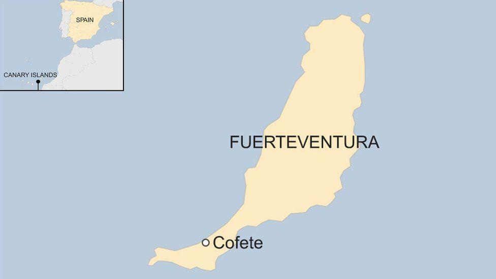 Map of Corete on Fuerteventura