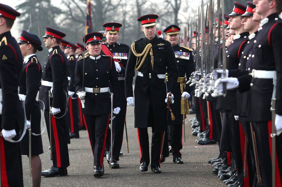 Duke of Cambridge inspects cadets in December last year