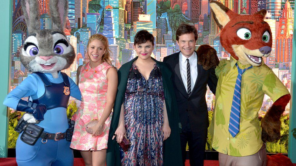 The cast of Zootopia
