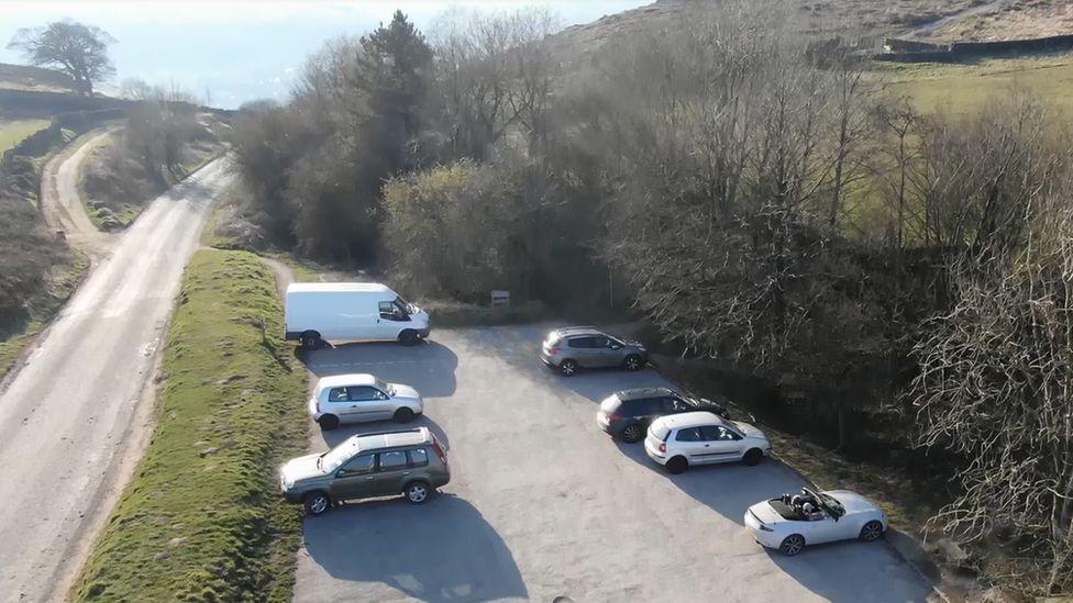 Busy car park