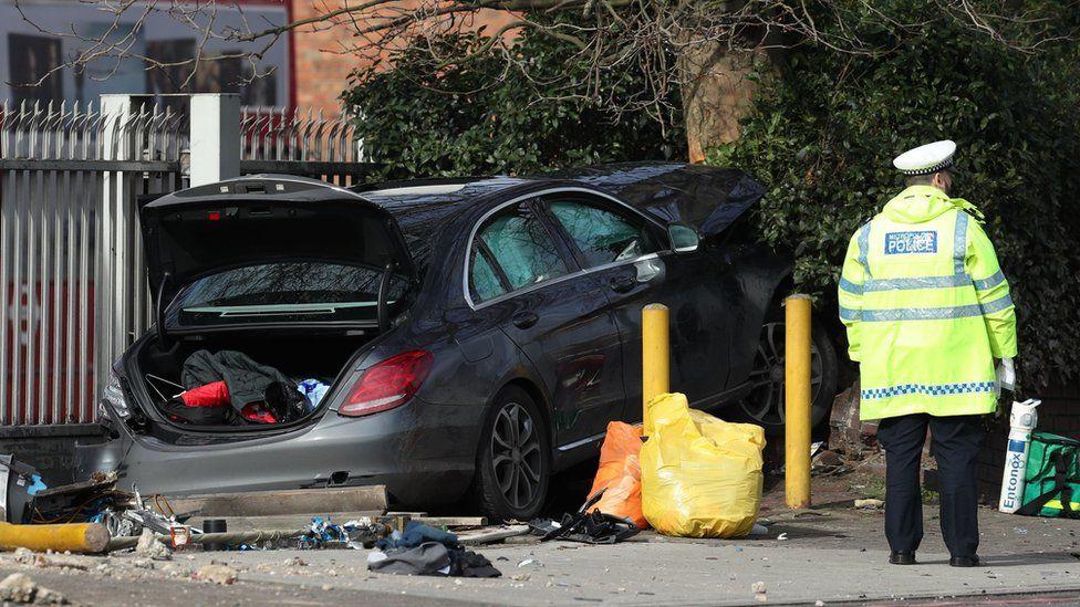 Car involved in the crash
