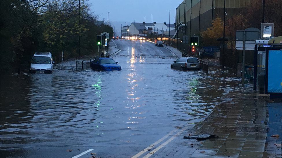 Flooding in Rotherham