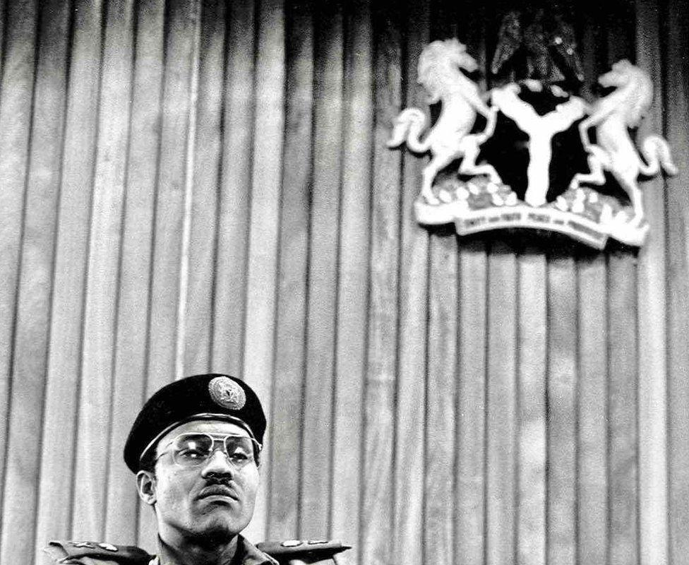 "A photo by Sunmi Smart-Cole entitled: ""Power!"" (Gen Muhammadu Buhari) - 1984"