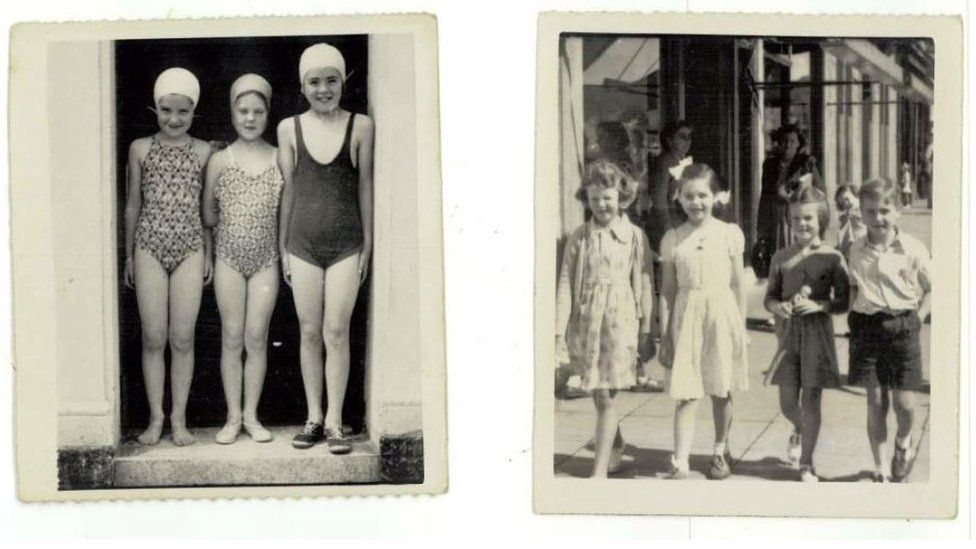 Found photos of children in Millport