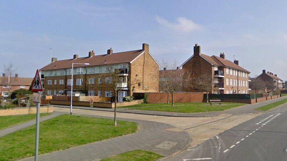 Rear of Galey Green flats, South Ockendon