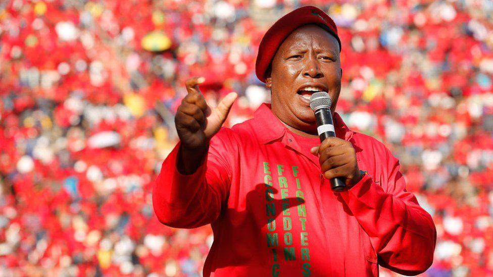 Julius Malema reconduit à la tête de son parti