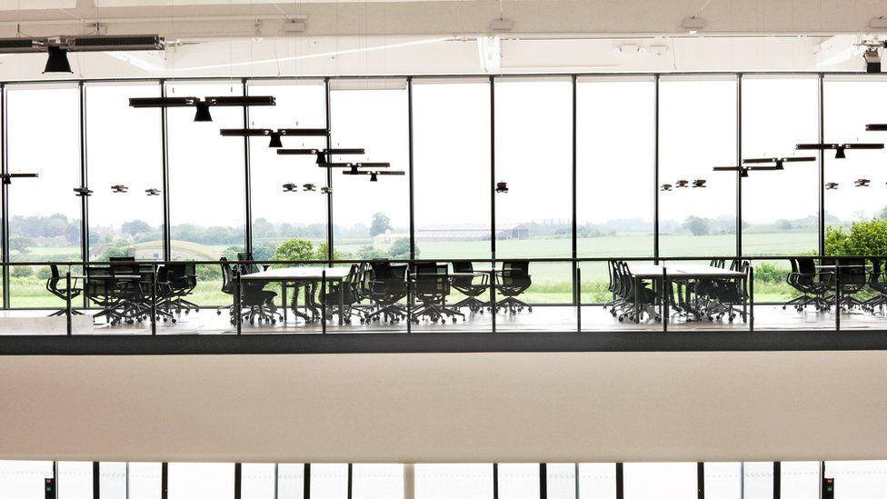 Workspaces at Dyson's Hullavington facility