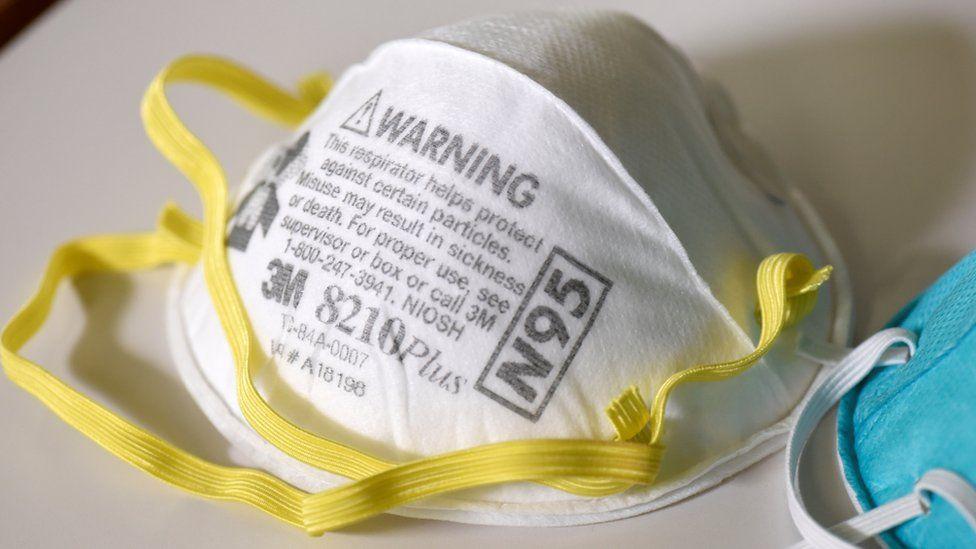 N95 masks at a 3M laboratory