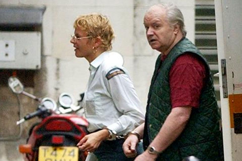 Tony Martin arriving for a court appearance in October 2001