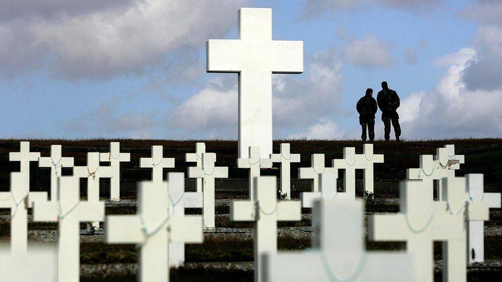 Argentine memorial cemetery in Darwin