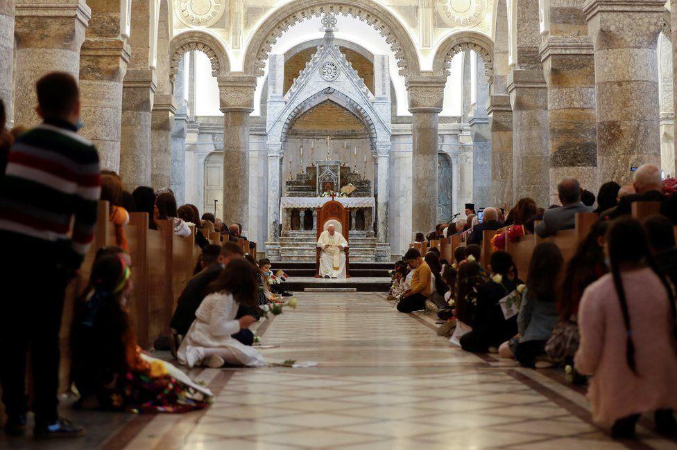 Pope Francis in Qaraqosh, Iraq, March 7