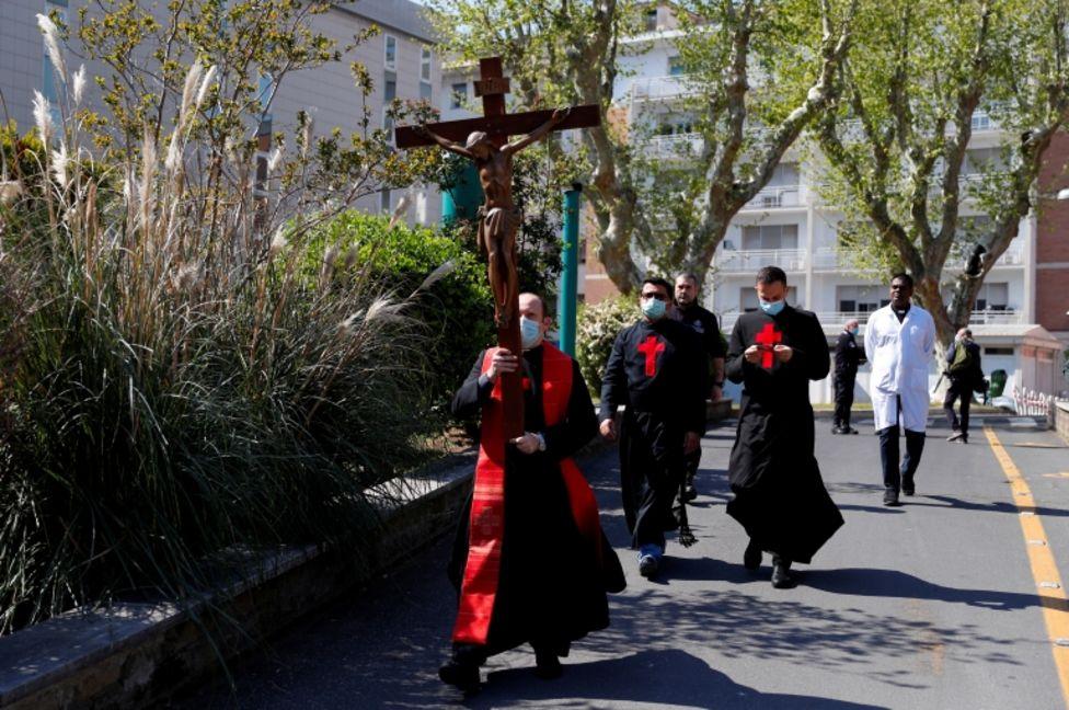 Procesión en Roma