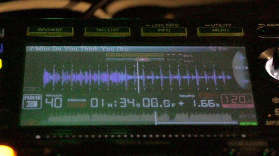 A DJ console