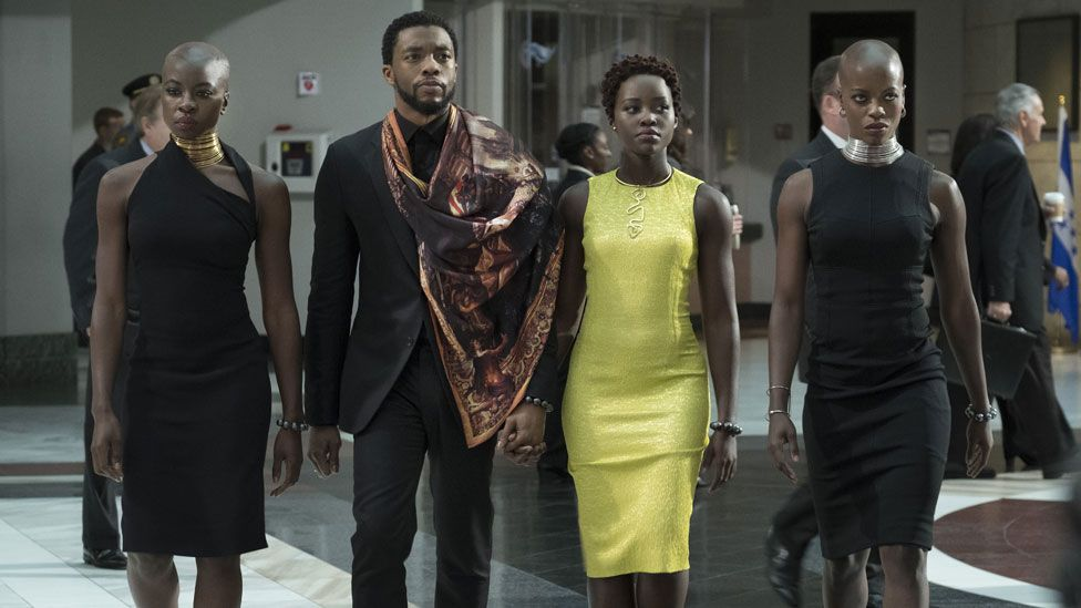 Chadwick Boseman and other stars from Black Panther