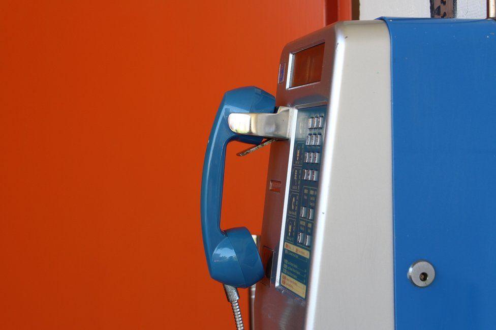 Colourful telephone
